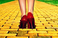 yellow brick shoes
